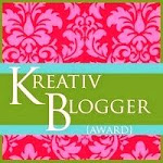 A Kreativ Blogger Award for me!