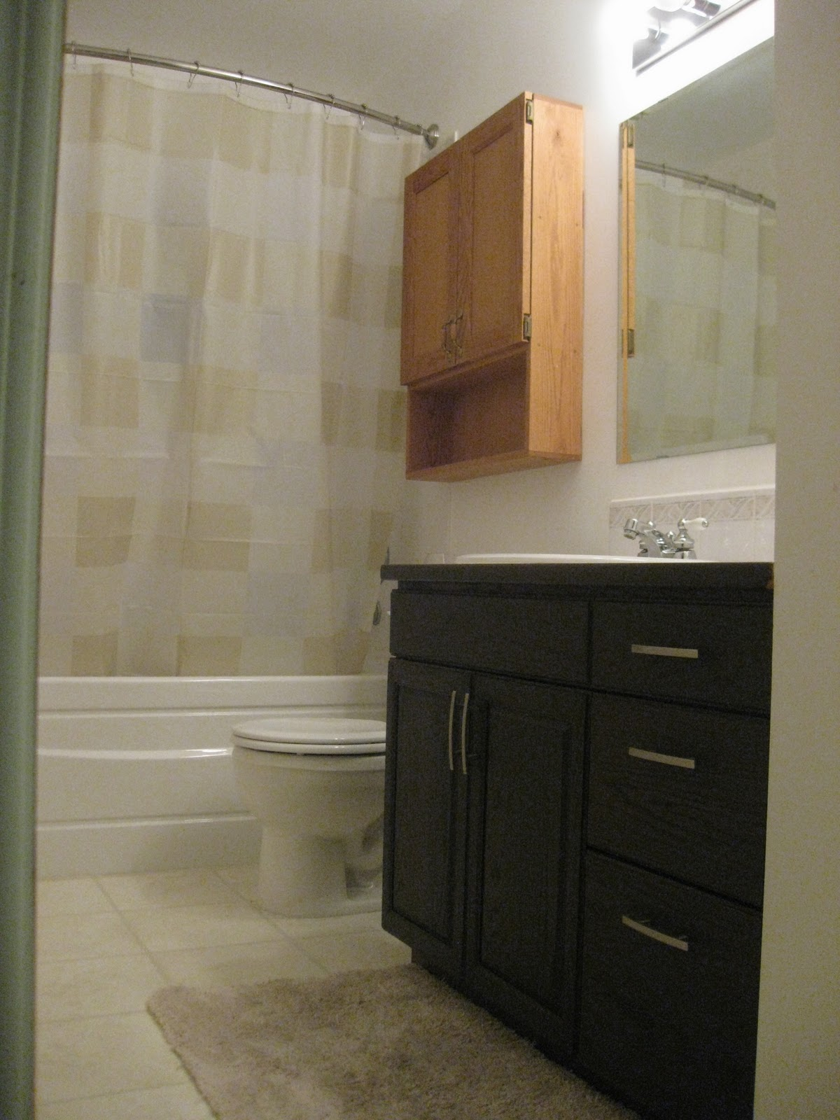Life And Home Renos Bathroom Reno Stained Vanity