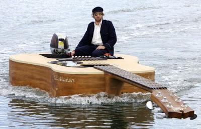Josh Pyke Boat Guitar