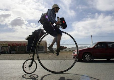 Around the World on a Penny Farthing