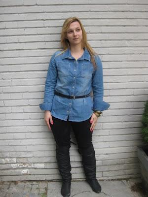 denim shirt, street style