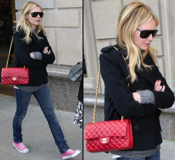 wish list, chanel, bolso 2.55, kristen dunst, rojo