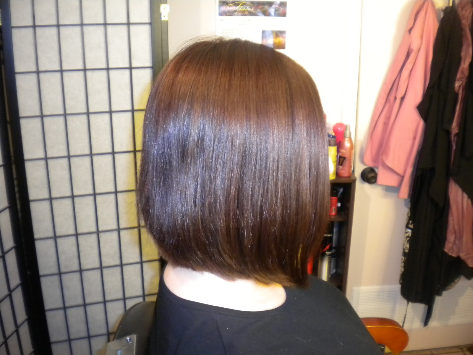 of a Hairstylist: Asymmetrical Bob Hair Cut/Color Before and Afters