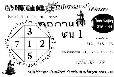 Thai Lotto Tips Good Paper August Lottery Draw