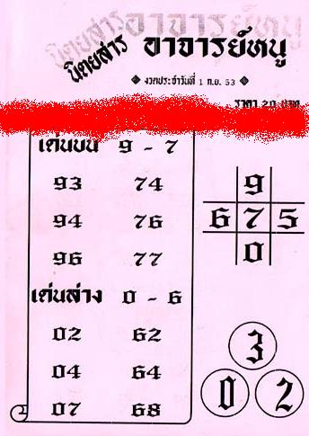 Free thai lotto papers 1st september 2010 thai lotto draw free tips