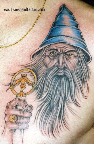 Woah! Interesting Wizard Tattoo Ya Got There!
