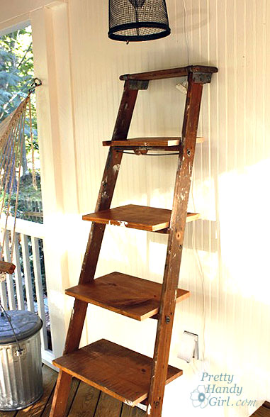 Guest Post: How to Build Ladder Shelves | Centsational Girl
