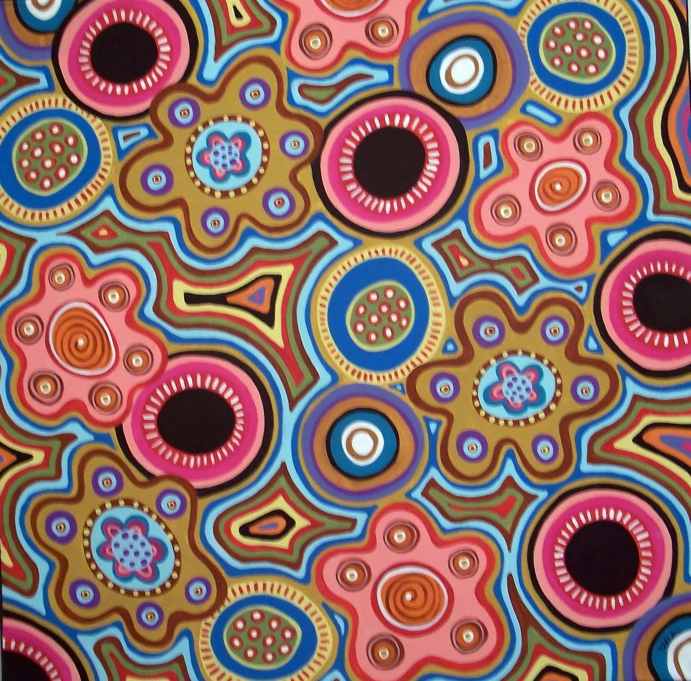 abstract folk art