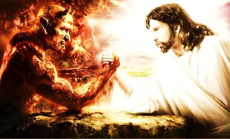 Satan Vs God Wallpaper Or maybe better called