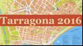 Dos tarragonins donant suport a la candidatura de la ciutat de Tarragona a la Capital Europea de la Cultura 2016.