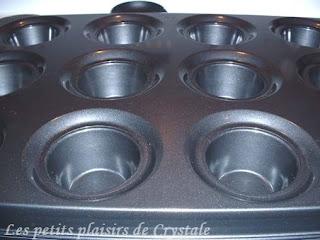 les petits plaisirs de crystale moule muffins a gros. Black Bedroom Furniture Sets. Home Design Ideas