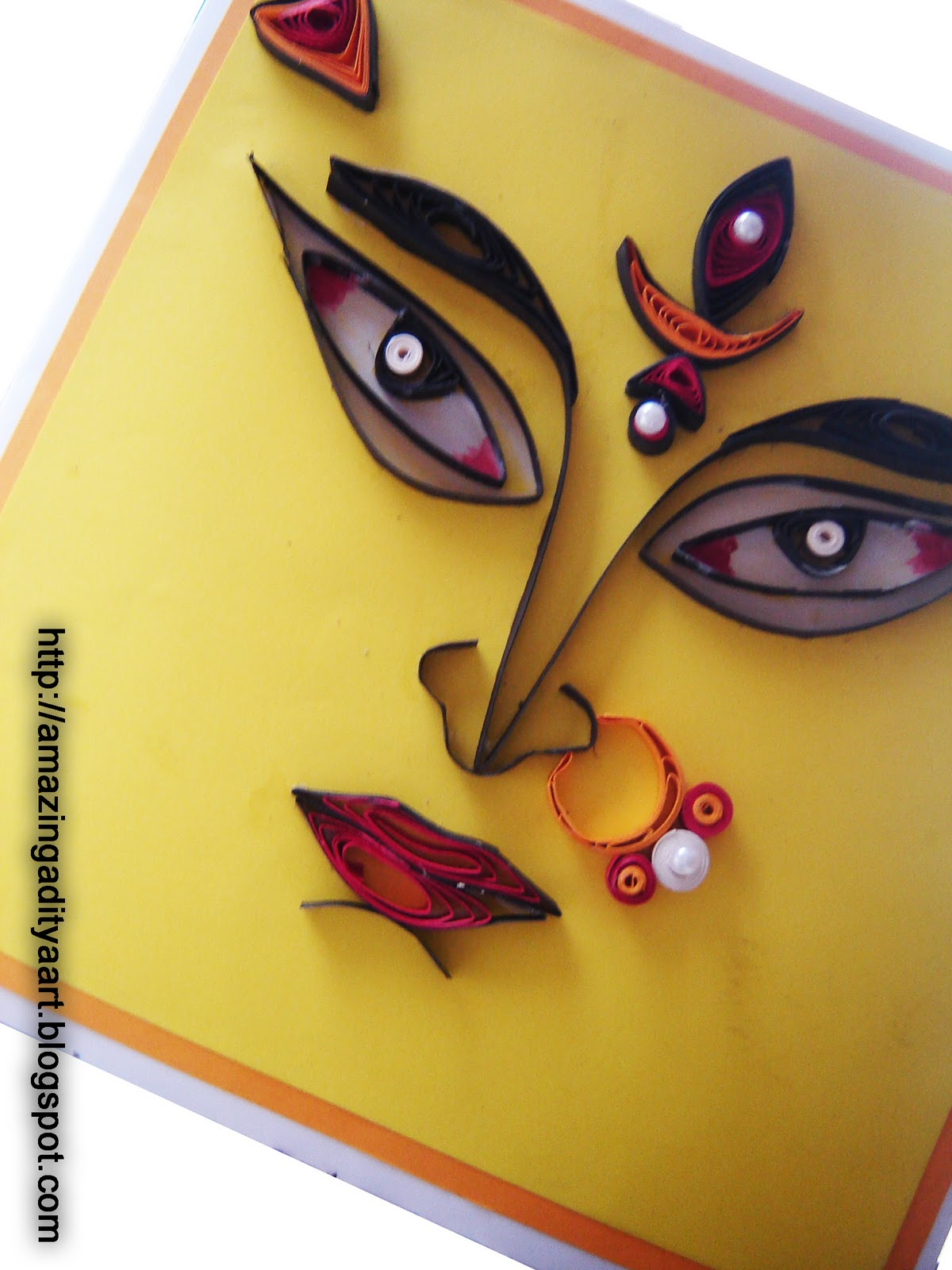 Amazing quilling art n paintings adis creations durga puja durga puja festivel card kristyandbryce Image collections