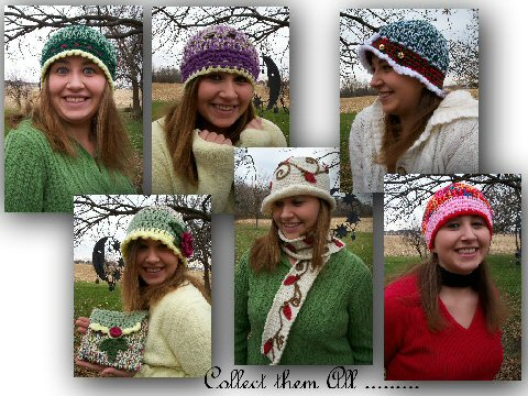 A few crocheted winter hats....