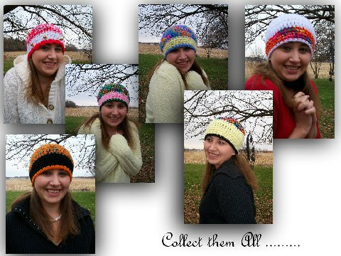 A few more crocheted handmade hats...