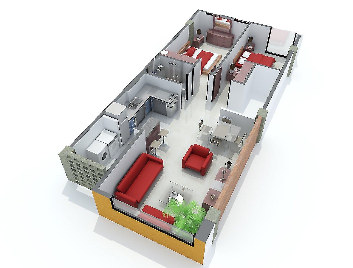90gradosdesign isometrias apartamentos