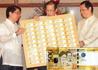 Ninoy And Cory Aquino 500 Pesos Bill