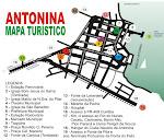 Mapa turistico de Antonina