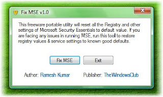 download fix mse utility free antivirus