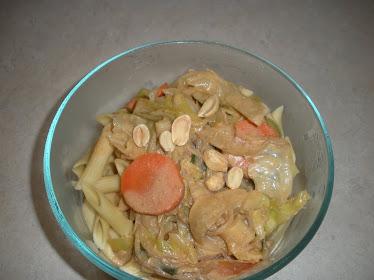 Veggie Peanut Pasta
