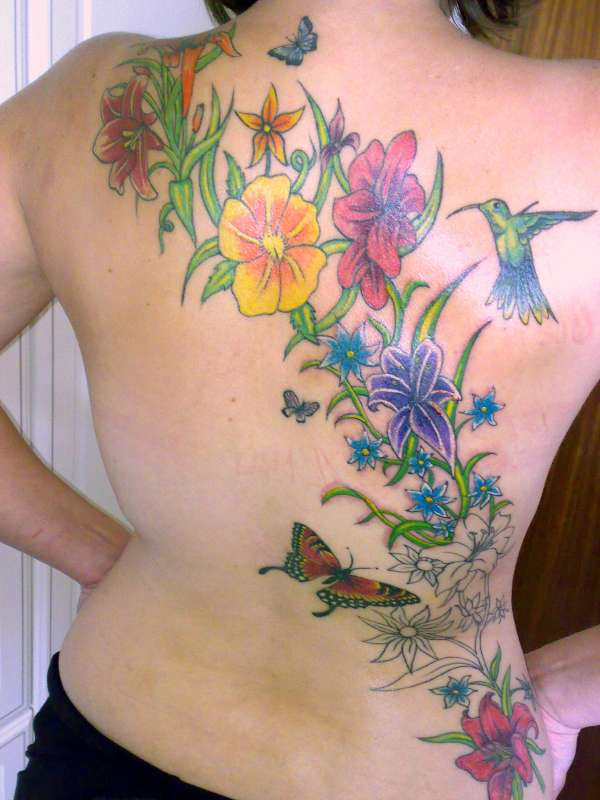 Various Woman Back Tattoos 11
