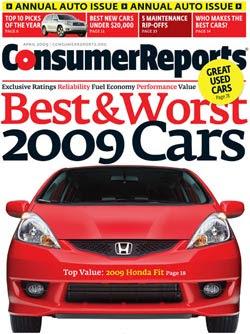 Honda Tops Consumer Reports 2009 Automaker Report Cards... Again
