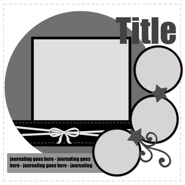 A day in the life freebie digital scrapbooking template 2 for Templates for scrapbooking to print