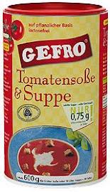 Gefro paradicsomleves és szósz