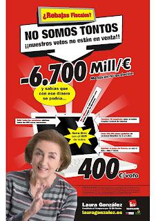 Señora de IU que compra sus votos en Media Markt