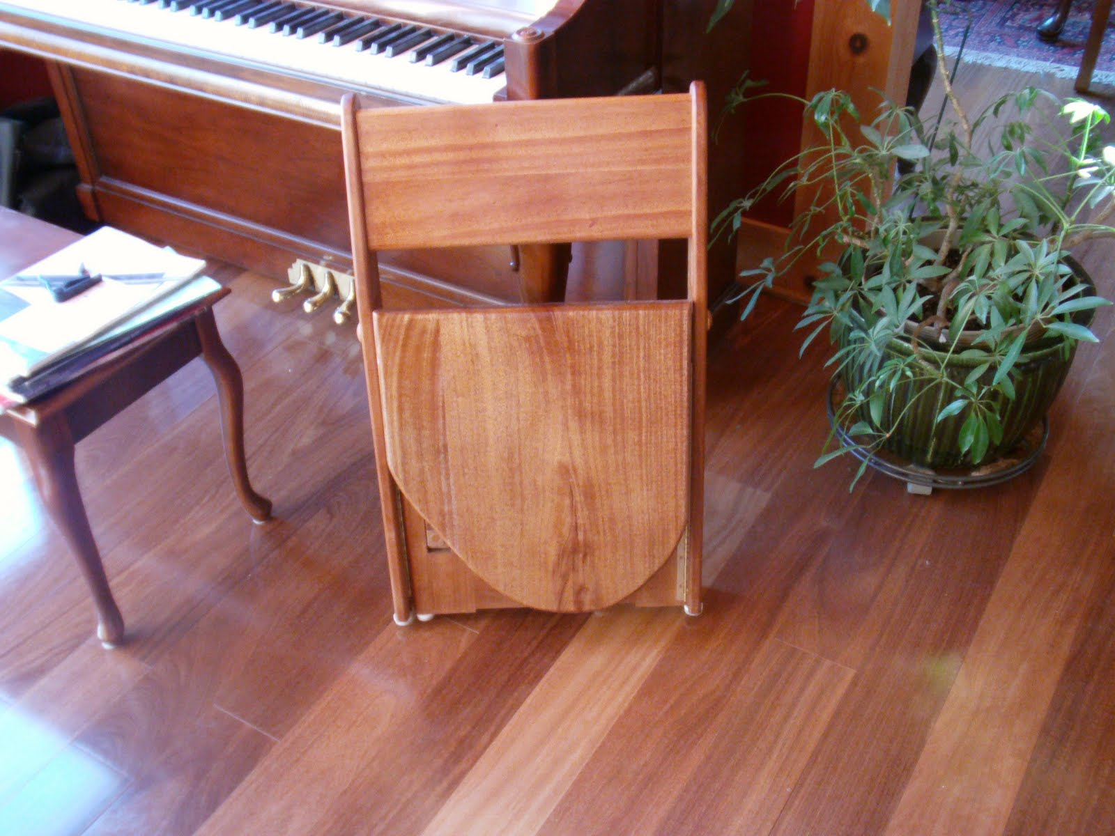 Jacala Woodworks Guitar Chair Additional Views Folded