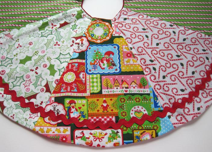 Project reversible christmas tree skirt pattern