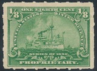 Unused 1 8 Cent Proprietary Stamp