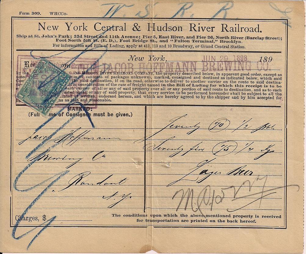 1898 Revenues Cancel For June 29 June 29 1898 Bill Of