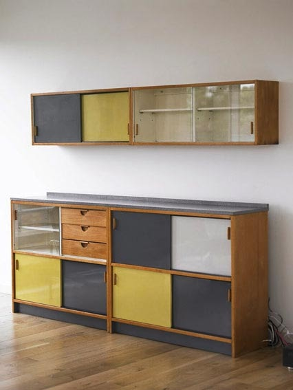 Grayscale Kitchen Cabinet