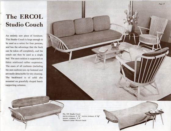 Ercol Studio Couch Day Bed Sofa Mid Century Modern Post War Furniture Ebay