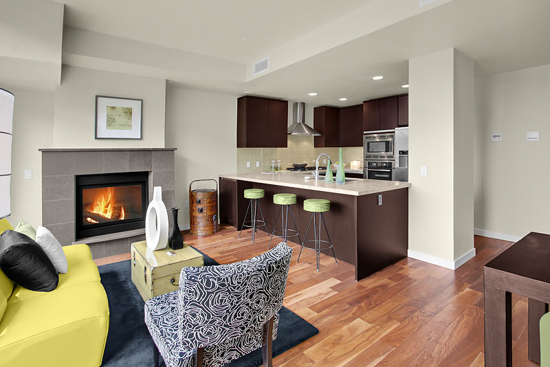 Great Living Space With Hardwoods Throughout Gas Fireplace And Eating