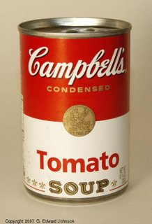 adria 39 s blog campbell 39 s tomato soup cans. Black Bedroom Furniture Sets. Home Design Ideas