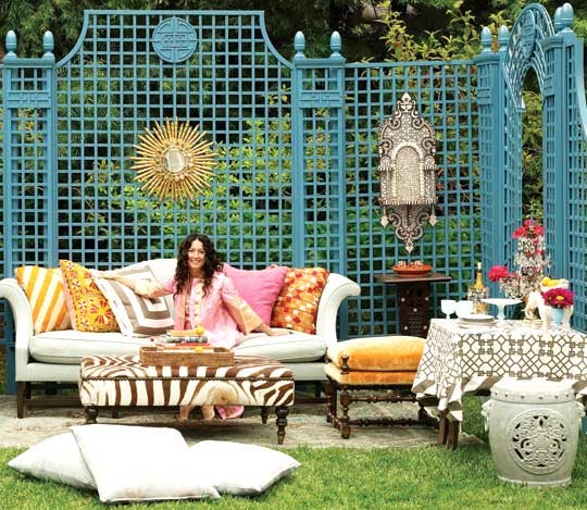 Bohemian Backyard Decor : Regal Look @ the World Around Me Home Decor Bohemian Chic