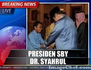 Dr. Syahrul Adam bersalaman Dengan SBY