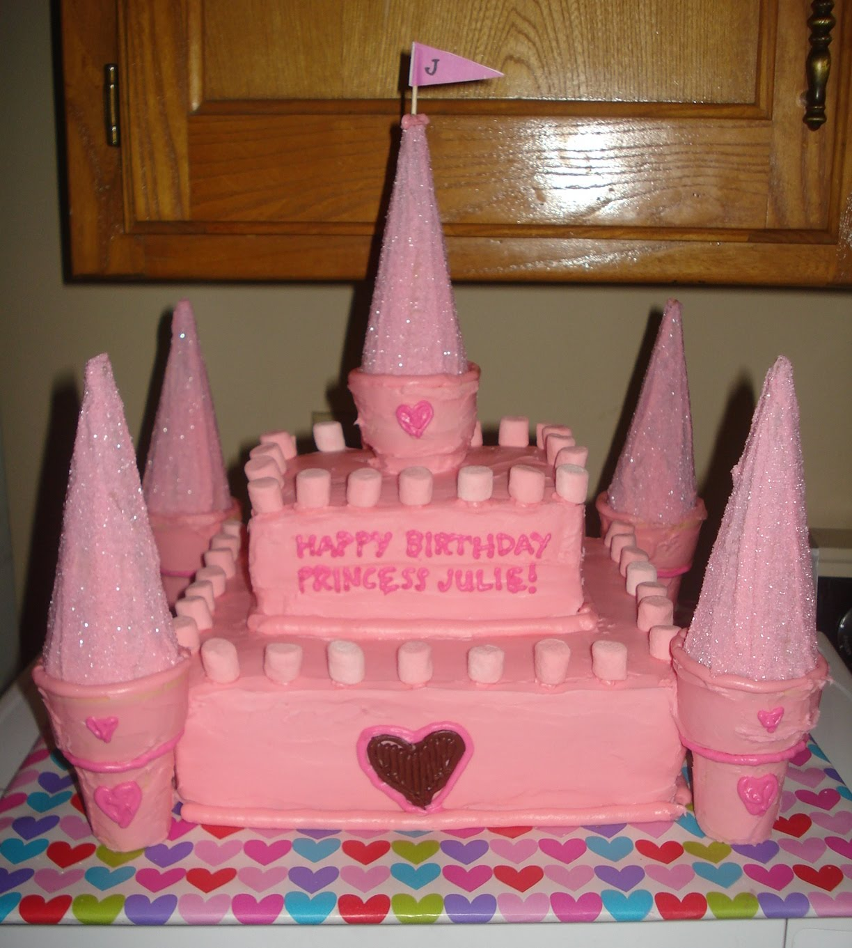 Easy Cake Designs To Make At Home : loving owen {and kate}: princess castle cake
