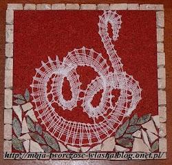 Łabędź w mozaice