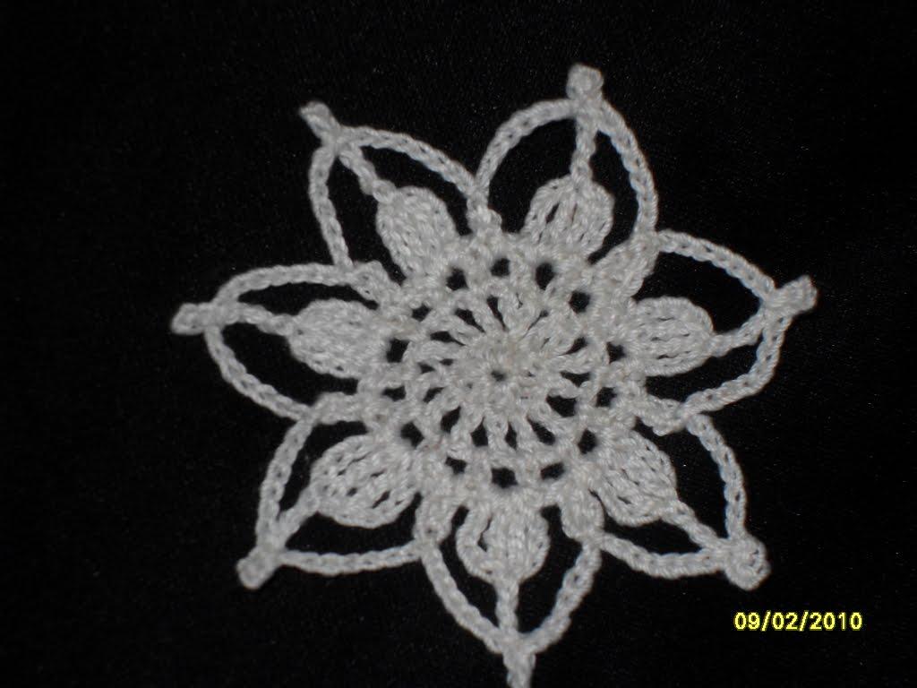 Crochet: Interpreting thread crochet flower pattern, frilly frocks