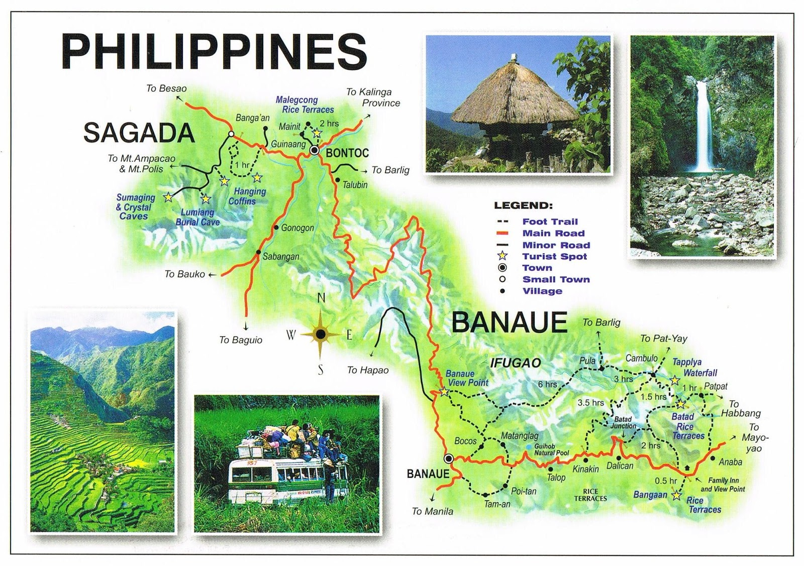 Sagada Philippines  city photos gallery : This map shows you the places visited during our Banaue Sagada tour