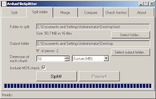 ArduoSoft ArduoFileSplitter 1.2.4