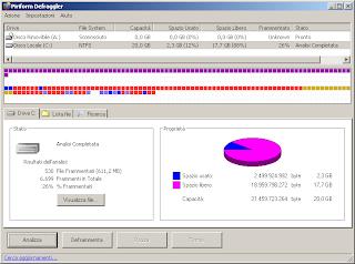 schermata utility deframmentazione Piriform Deflagger