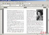 AbiWord ver. 2.8.6 - immagine esempio importazione formato .doc