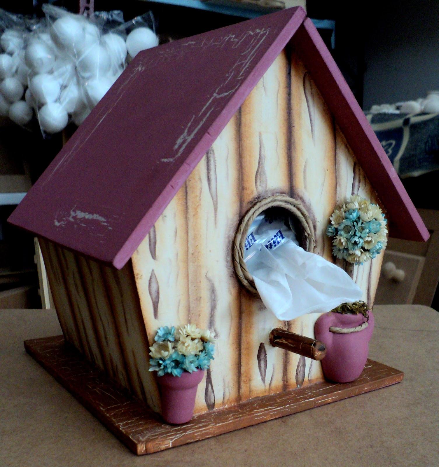 Taller de pintura decorativa casita de pajaros portapa uelos - Casita para pajaros ...
