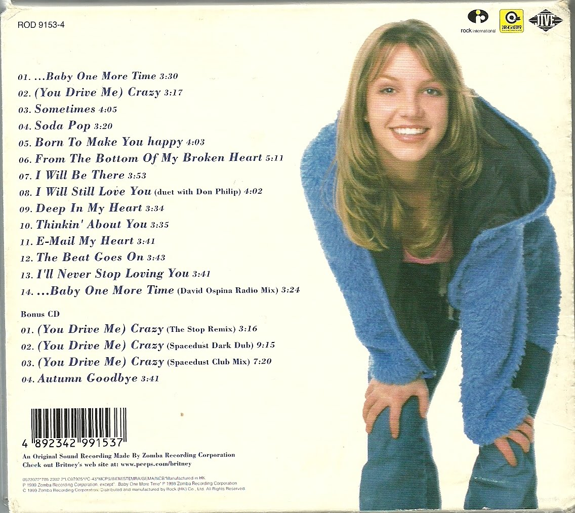 Britney Spears Baby One More Time Cd