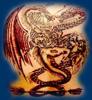 SNAKE  amp  DRAGON TATTOODragon Snake Tattoo