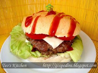 Articole culinare : Hamburger umplut la gratar