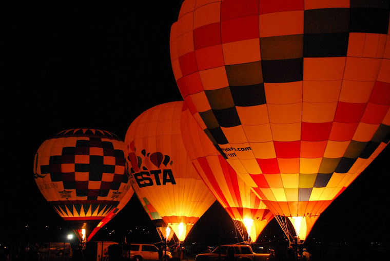 """Balloon Glow"" Display at Night"